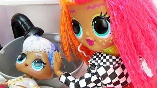 Мультик Куклы ЛОЛ в салоне красоты 2 серия OMG LOL Surprise Fashion Dolls Неоновая Neonlicious
