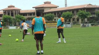 preview picture of video 'Ivory Coast national side training / Cote d'Ivoire seance d'entrainement'