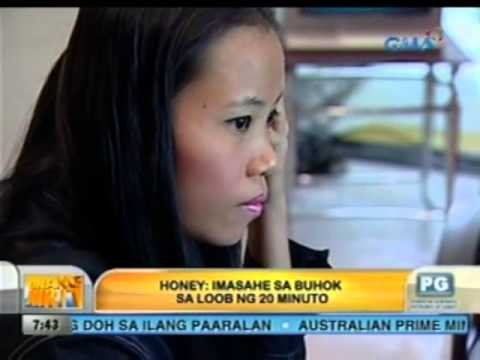Honey at kulay-gatas hair mask