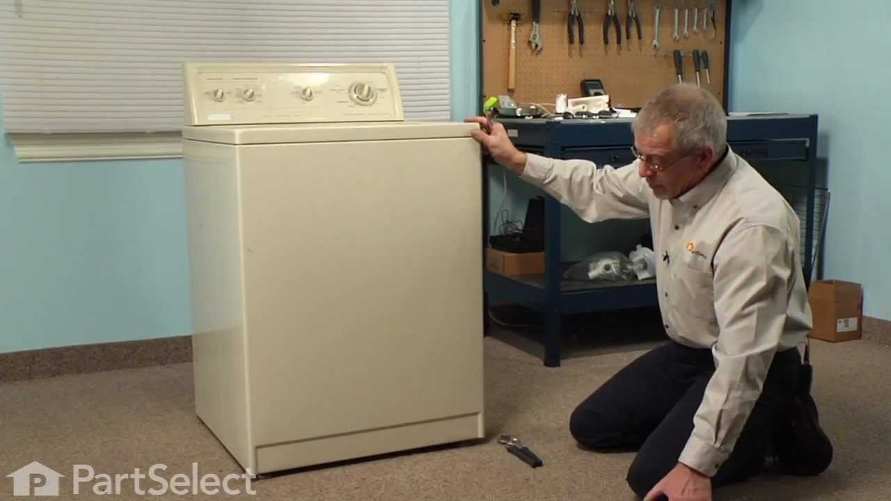 Replacing your Whirlpool Washer Foot, Front - Single