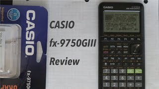 Casio fx-9750GIII Review and Unboxing
