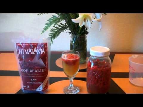 Video GOJI BERRY LEMONADE RECIPE ~ HEALTHY FOOD RECIPES