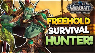 Freehold DUNGEON as A WORKING Survival Hunter - LOGS INCLUDED! - Battle for Azeroth ALPHA