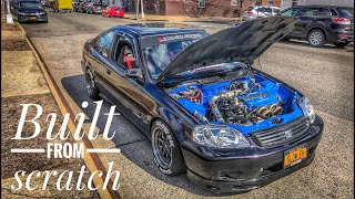 BUILDING MY CRASHED TURBO CIVIC IN 15 MINUTES * INSANE TRANSFORMATION *