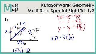KutaSoftware: Geometry- Multi-Step Special Right Triangles Part 1