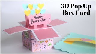3D Pop Up Card | Birthday Card DIY | Explosion Box for Scrapbook | Handmade Greetings Card