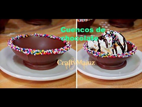 Receta Fácil: Cuencos de chocolate con globos de agua / Chocolate Bowls with Water Balloons