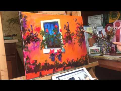 "Time Lapse video of ""A Fragrant Affair"" painting"