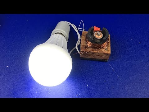 Electric DC Motor Generator Free Energy - How to make a homemade mini powerful energy using magnet