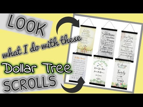LOOK what I make with these DOLLAR TREE SCROLLS | EASY DIY