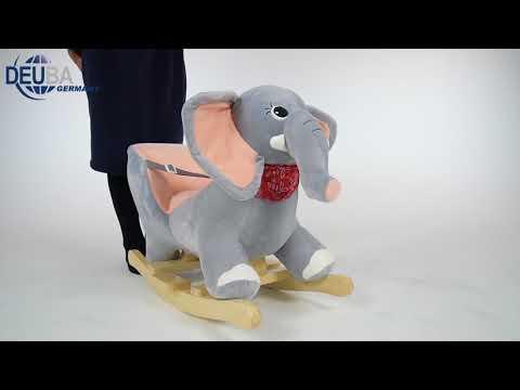 Schaukeltier Elefant mit Sicherheitsgurt & Geräuschfunktion
