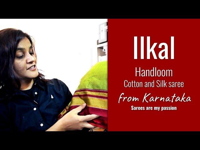 15 Ilkal Saree Karnataka - Chikki Paras - VLOG - Sarees are my passion