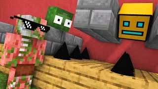 Monster School : GEOMETRY DASH Challenge - Minecraft Animation