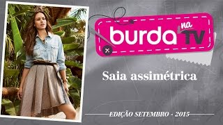 burda na TV 56 – Saia assimétrica