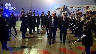 נשיא המדינה ראובן (רובי) ריבלין נחת בפריז לביקור רשמי עם נשיא צרפת