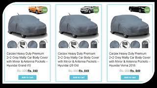 Buy CAR BODY COVERS Online