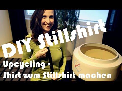 DIY Stillshirt nähen – Oberteil zum Stillen umfunktionieren - upcycling