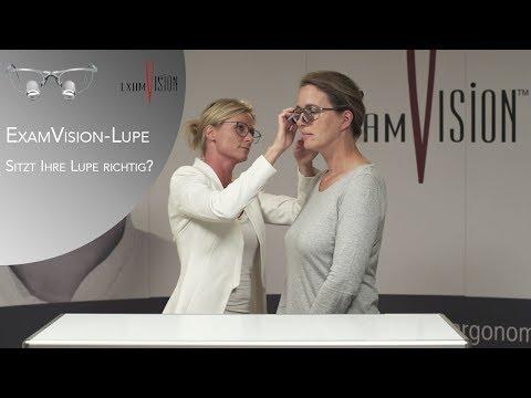 ExamVision-Lupe – Sitzt Ihre Lupe richtig?