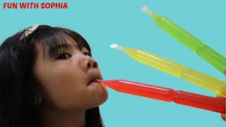 Sophia Learn Colors with Fruity Ice Nursery Rhymes