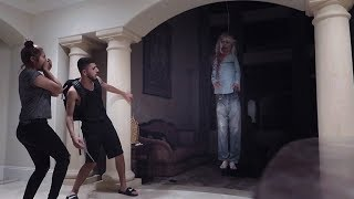 POSSESSED DEMON GIRL SCARE PRANK!! (HE ALMOST GOT PUNCHED) | FaZe Rug