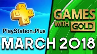 PlayStation Plus VS Xbox Games With Gold (MARCH 2018)