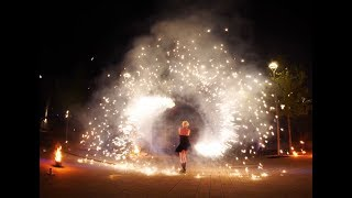 Pyro-Feuershow Furious SPARKLING Flames S.W.A.P. Sabrina Wolfram ART PROJECT