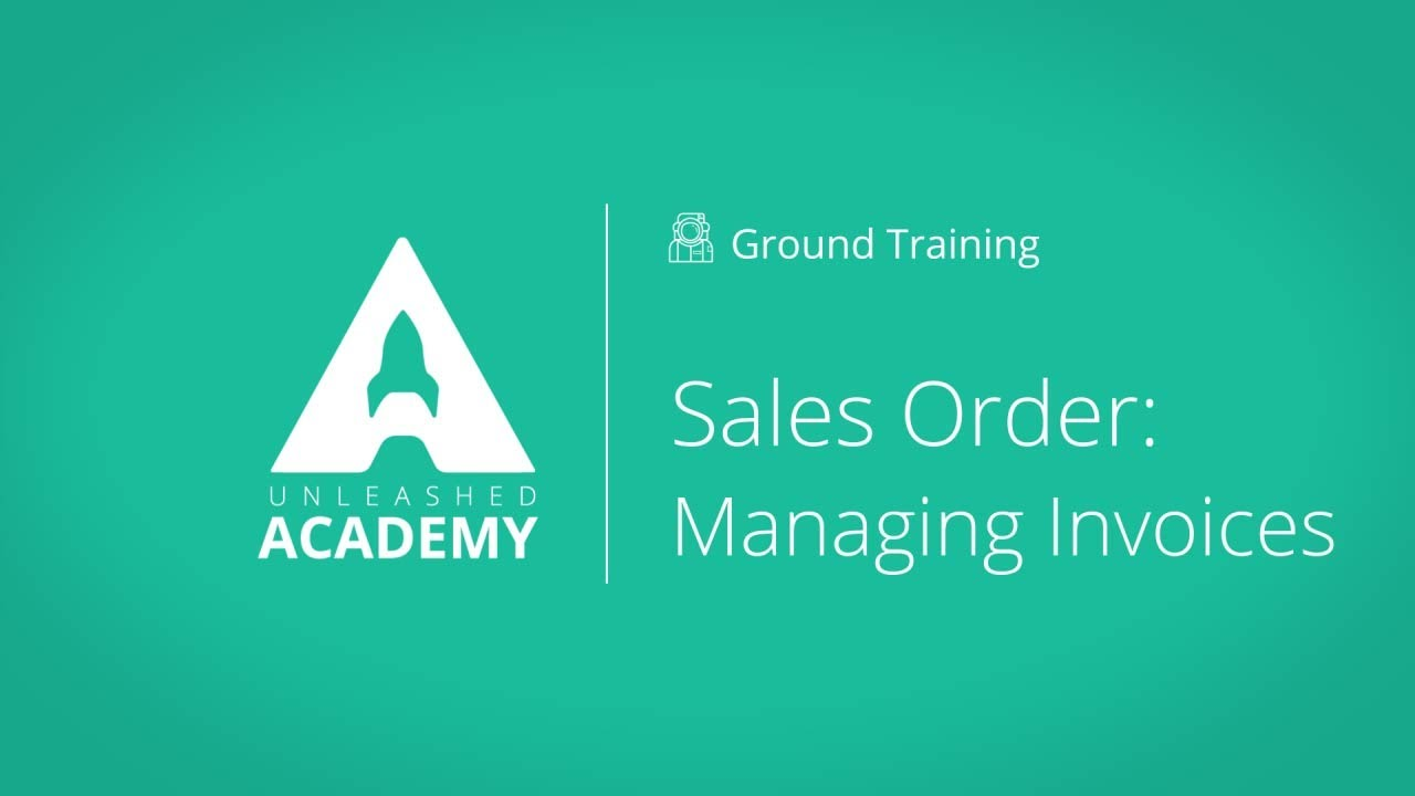 Sales Order: Managing Invoices YouTube thumbnail image