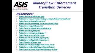 Military and Law Enforcement Transitions: Strategies for Success