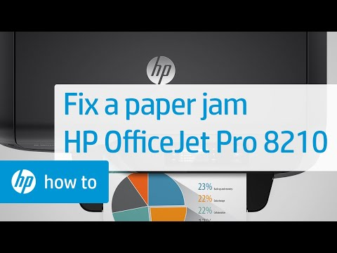 Fixing a Paper Jam on the HP Officejet Pro 8100 | HP