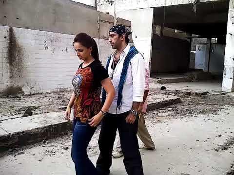 Noor and amir qureshi in bhai log shoot