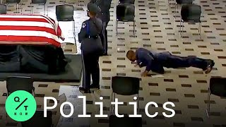 Ginsburg's Personal Trainer Does Push-Ups in Front of Her Casket at U.S. Capitol
