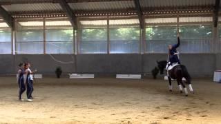 preview picture of video 'Oberbayerische MS Voltigieren Vaterstetten 2014 Volti-Team Hohenbrunn I Kür Finalprüfung'