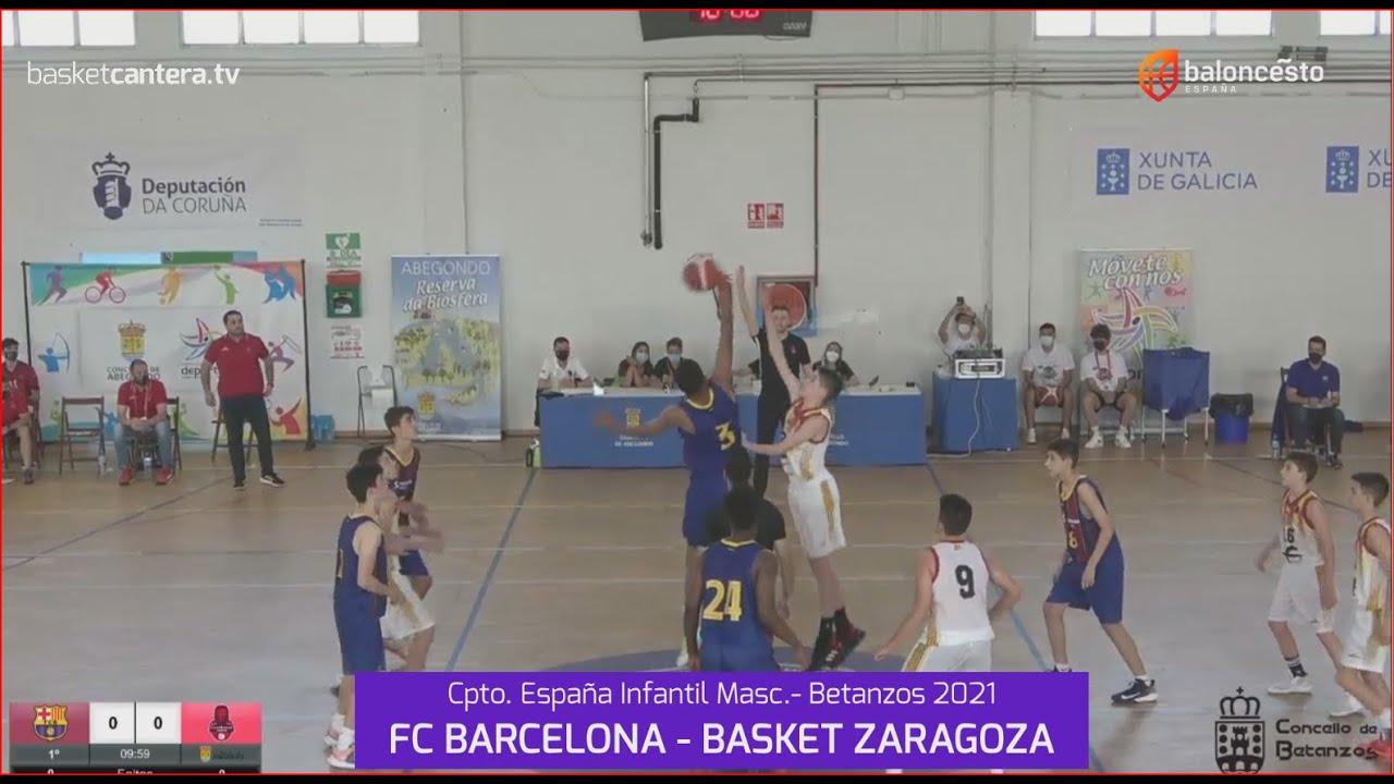 U14M-Cpto.España: FC BARCELONA vs BASKET ZARAGOZA.- Campeonato Infantil Mas. FEB-Betanzos 2021