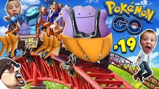 ♪ POKEMON GO DITTO SONG ♬ + Kabutops Roller Coaster NEW EVOLUTIONS! (FGTEEV Update Gameplay #19)