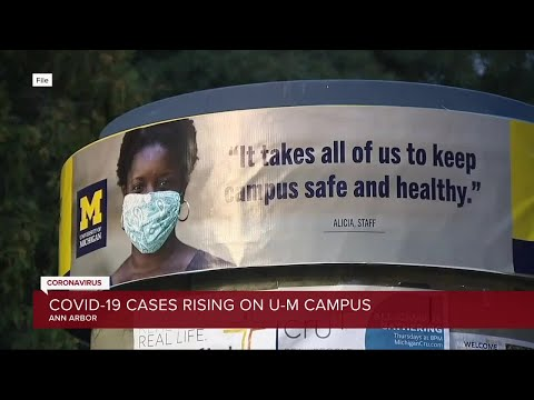 COVID-19 cases rising on the campus of the University of Michigan