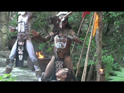 ritual dance of the Maya  МЕКСИКА  РИТУАЛЬНЫЕ  ТАНЦЫ  ИНДЕЙЦЕВ  МАЙЯ  XCARET PARK видео