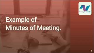 Minutes of meeting sample   business writing course   free online course