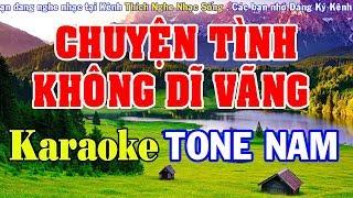 Chuyện Tình Không Dĩ Vãng Karaoke   Tone Nam   Nhạc Sống Karaoke