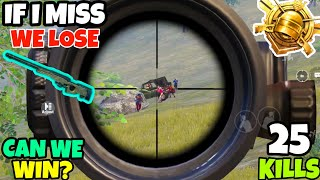 If i Miss This AWM Shot We Will Lose The Match • Can We Win? • (25 KILLS) • PUBG MOBILE (HINDI)