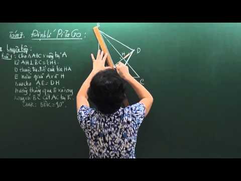 Định lý Pitago - Toán lớp 7