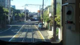 熊本電鉄 藤崎線 黒髪町-藤崎宮前 前面展望