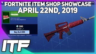 Fortnite Item Shop *NEW* DINO AND TRIASSIC WRAP! [April 22nd, 2019] (Fortnite Battle Royale)
