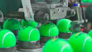 How Tennis Balls are Made - Most Satisfying Production Process You Probably Didn't See