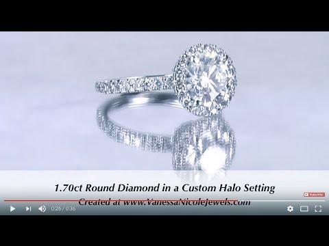 1.70ct Diamond Halo Ring