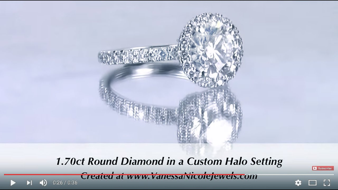 1.70ct Round Cut Diamond Ring