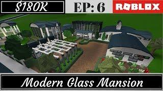 Bloxburg Modern Mansion Speed Build - modern house