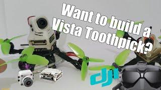 How I Built My Caddx Vista FPV Toothpick - HaloRC Guitarpick
