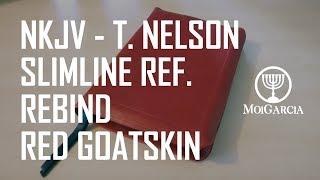 NKJV Thomas Nelson Slimline Ref. Rebound in Red Goatskin