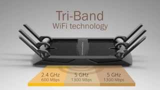 NETGEAR Nighthawk X6 AC3200 R8000 Tri-Band Wifi Router Demonstration