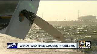 Windy weather causes problems across the Valley
